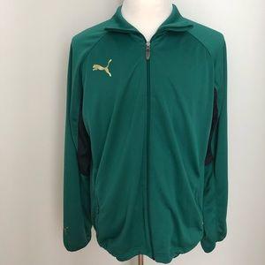 Puma zip-up polyester athletic track jacket coat L